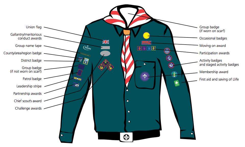 Scout Badges 1st North Devon Barnstaple